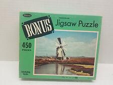 NIB New Vintage Whitman Bonus Jigsaw Puzzle 450 Pieces Tropani Sicily Windmill