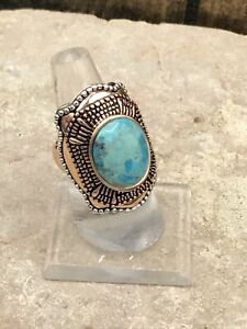 Barse Verona Ring-Mixed Metal- 8-Turquoise- New With Tags