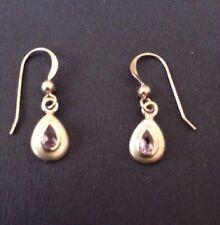 925 Silver Amethyst Drop Earrings