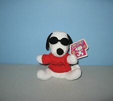 New Joe Cool Sunglasses Snoopy & Friends Peanuts Gang Bean Plush by Irwin Toys