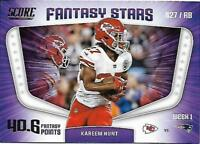 2018 Score Football Fantasy Stars Insert Singles (Pick Your Cards)