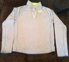 Mens Hollister Sport Running Training Lightweight Jacket - Gray/Lime - Size XL