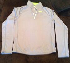 Mens Hollister Sport Running Training Lightweight Jacket - Gray/Lime - Size XL