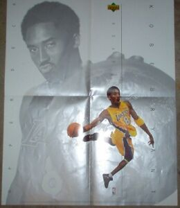 2001 Upper Deck Los Angeles Lakers Kobe Bryant Dealer Poster MINT CONDITION