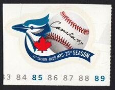 BLUE JAY = BASEBALL Toronto Team LOGO = Canada 2001 #1901 MNH Cut from Booklet