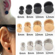 1Pair Mens Barbell Punk Gothic Stainless Steel Ear Studs Earrings