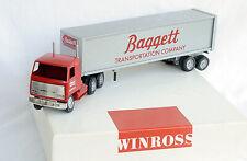 1997 Winross 1/64 Baggett Transportation Tractor Trailer Set Mack COE MIB