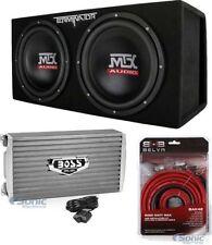 "MTX TNE212DV 12"" 2000W Car Audio Subwoofers + 2000W Amp + Amp Wiring Kit Package"
