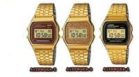 Casio watch retro digital gold made in Japan A159WGEA 3 style options UK seller