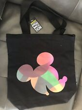 Disney Mickey Mouse True Original Exhibition Black Canvas Bag New With Tags