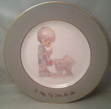 "Precious Moments Collector Plate ""I'll Play My Drum for Him"" w/ Original Package"