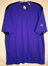 Callaway X Series Shirt Men's Large Purple S/S 100% Micro Polyester
