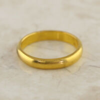 Vintage Wedding Band Ring 22ct Yellow Gold Size R