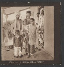 """"""" INDIA - COOLIE WOMAN AND CHILD """" -  VINTAGE  ORIGINAL  STEREOVIEW"""
