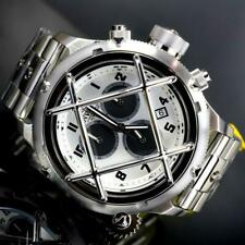 Invicta Russian Diver Nautilus Cage Swiss Mvt Steel Silver 52mm Chrono Watch New