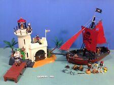 (O4294.10) Playmobil phare prison espagnole, pirates ref 4294 + bateau ref 3174