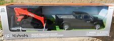 NEW-RAY 1:18 *KUBOTA* Pickup Truck Trailer & SVL 90-2 Skidsteer SET *NIB*