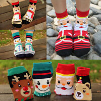 Damen Socken Baumwollmischung Boatsocken Füsslinge Xmas Warm Weihnachten Neu