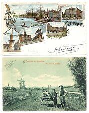 NEDERLAND 1906  2 x AK  ROTTERDAM-OVERSCHIE   F/VF