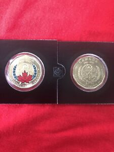 2020 Canada 1 Dollar Coin Pair 75 Anniversary Of The UN National Charter Unc