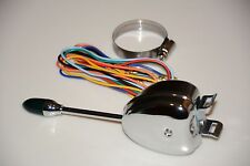 CHROME Turn Signal Switch Lever with Green Lighted End Street Hot Rat Rod