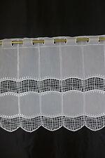m/€19,90 Scheibengardine Gardine Bistrogardine weiß 013317 45 cm hoch bestickt