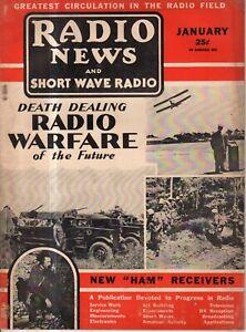1936 Radio News and Short Wave January - Radio warfare ahead - Index for 1935