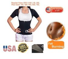PLUS SIZES sauna thermo Shirt hot Neoprene shaper Vest Sweat Arm Slimmer Zipper