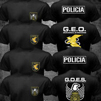 Spain National Police Special Forces SWAT GEO GOES Logo Espana Policia T shirt