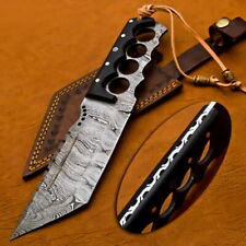 "12"" Custom Handmade Knife Hand Forged Damascus Steel Hunting Dagger Bowie Knife"