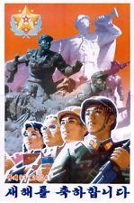 North KOREA Anti-American Propaganda Poster Print A3 + #N28