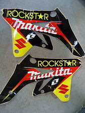 Suzuki RMZ250 2007-2009 Rockstar Makita radiator shroud graphic decal set RM1239