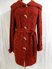 ** ST JOHN ** Gorgeous Cozy & Warm NWOT Long Tweed Knitted Wool Red Cardigan L