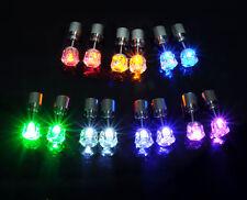 9 Farbe Blinkende leuchtend  LED Strass Ohrstecker Ohrringe unisex Ohr Schmuck