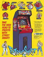 Street Smart Arcade FLYER Original NOS Video Game Paper Artwork Sheet 1989