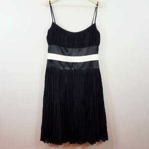 [ ESCADA ] Womens Silk Trim Dress | Size AU 12 or US 8