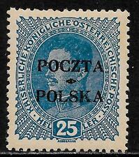 Poland stamps 1919 MI 36 signed  MLH  VF