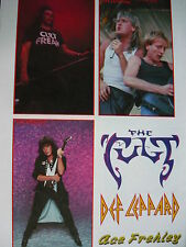 ACE FREHLEY (KISS) - DEF LEPPARD - THE CULT - STICKERS SHEET (REF R)