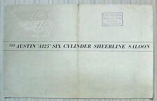 AUSTIN A125 Six Cylinder SHEERLINE SALOON Car Sales Brochure c1954 #S267/O
