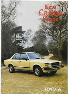 1981 Toyota Carina (2nd generation model) brochure
