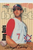 Doug Davis 1998 Team Best Auto Autograph