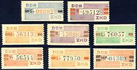 DDR-Dienst, MiNr. B III-X, tadellos postfrisch, Mi. 50,-