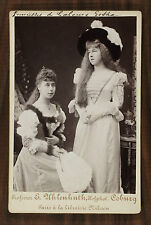 Victoria Mélita et Alexandra Princesses de Saxe-Cobourg-Gotha Photo cabinet card