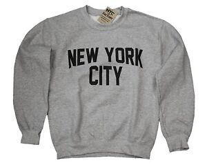 New York City Sweatshirt Screenprinted Gray Adult NYC Lennon Shirt