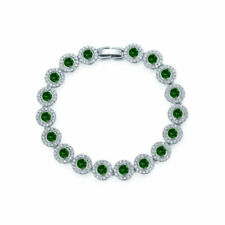 Swarovski Angelic Rhodium Plated 16.5cm Bracelet - Green