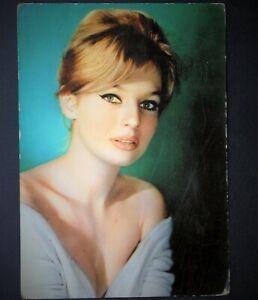 annette vadim cartolina viaggiata rare postcard vintage anni 60 danish actress f