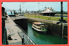 Unposted card. The Soo Locks, Soult Ste. Marie, Michigan, U.S.A.