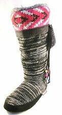 Muk Luks NWT Black W/ Beads Multi-Color Sz S (5-6)