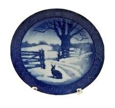 Royal Copenhagen 1971 Porcelain Christmas Plate Hare in Winter