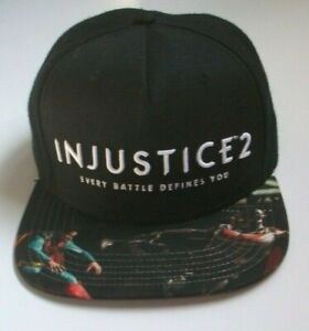 DC Comics Injustice 2  Mens Adult Unisex Snapback Baseball Cap - New